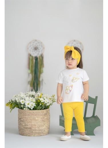 Nila Kids Butterfly Organik Kız Bebek Tişört Beyaz